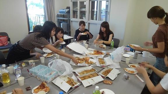 180724 3年ゼミ餃子ピザケーキたい焼き (4)